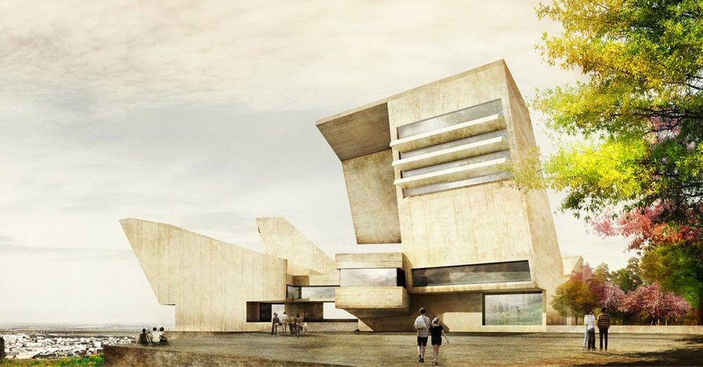 render exterior museo